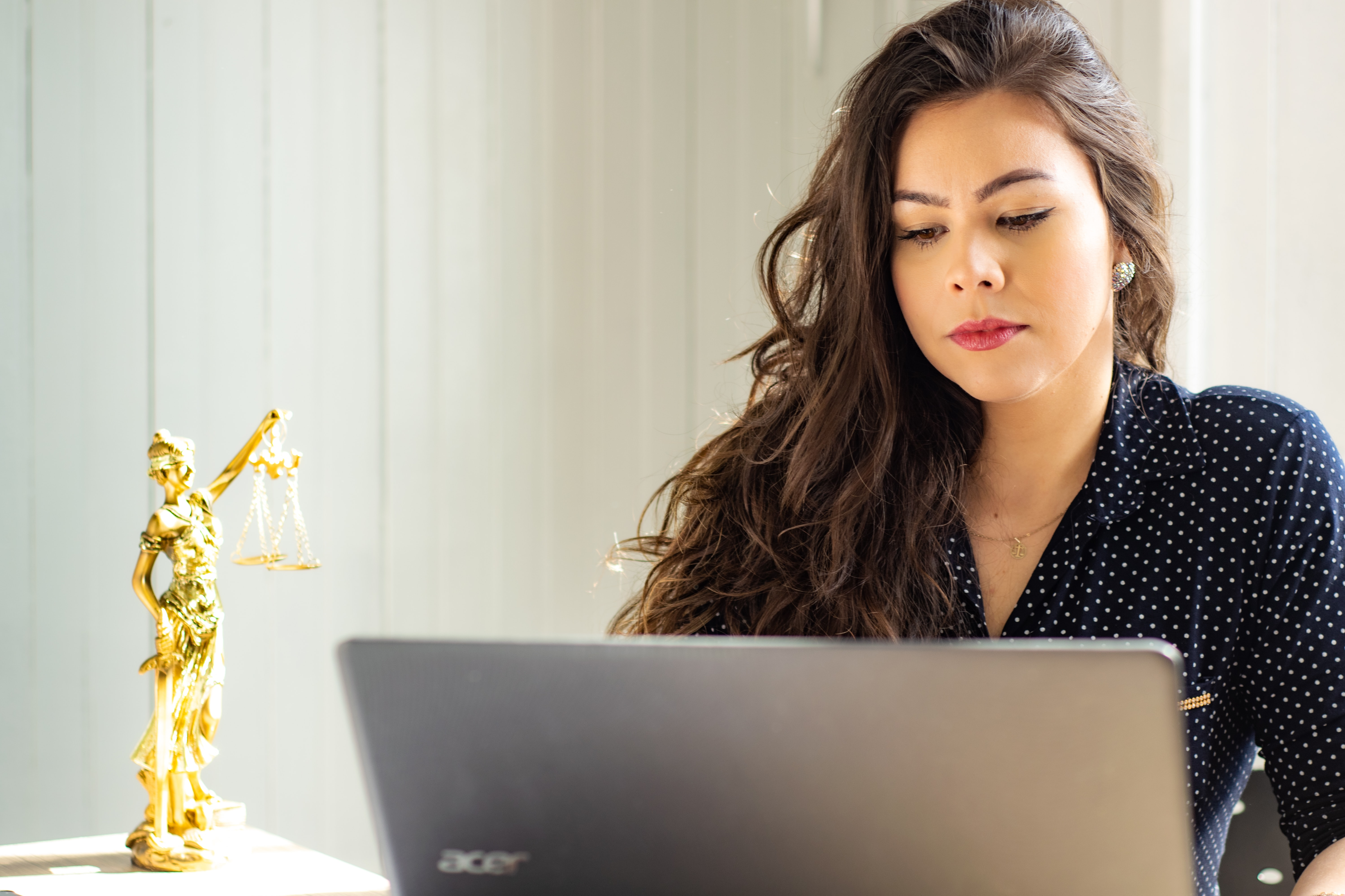 lawyer working at computer