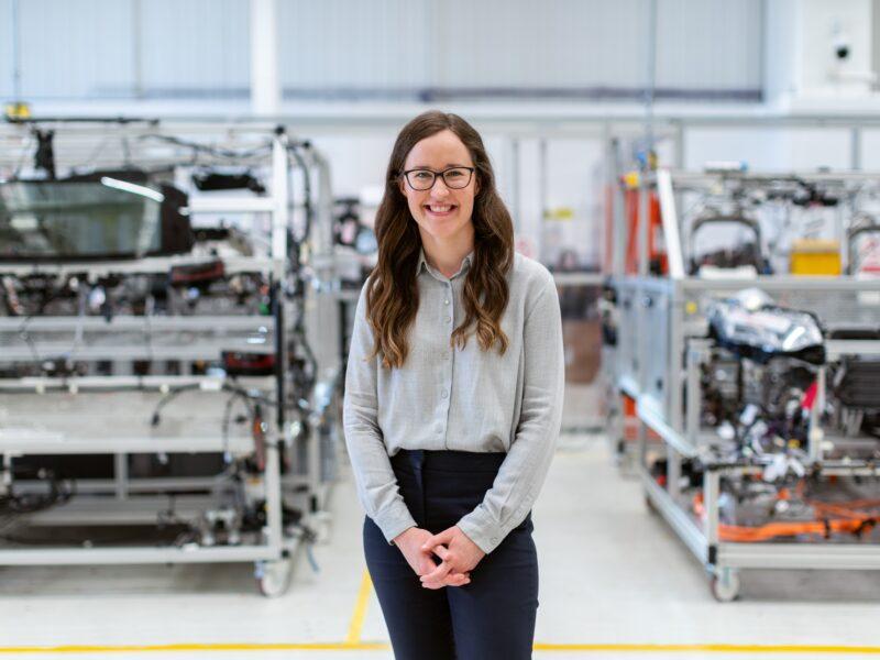 woman in an engineering workshop